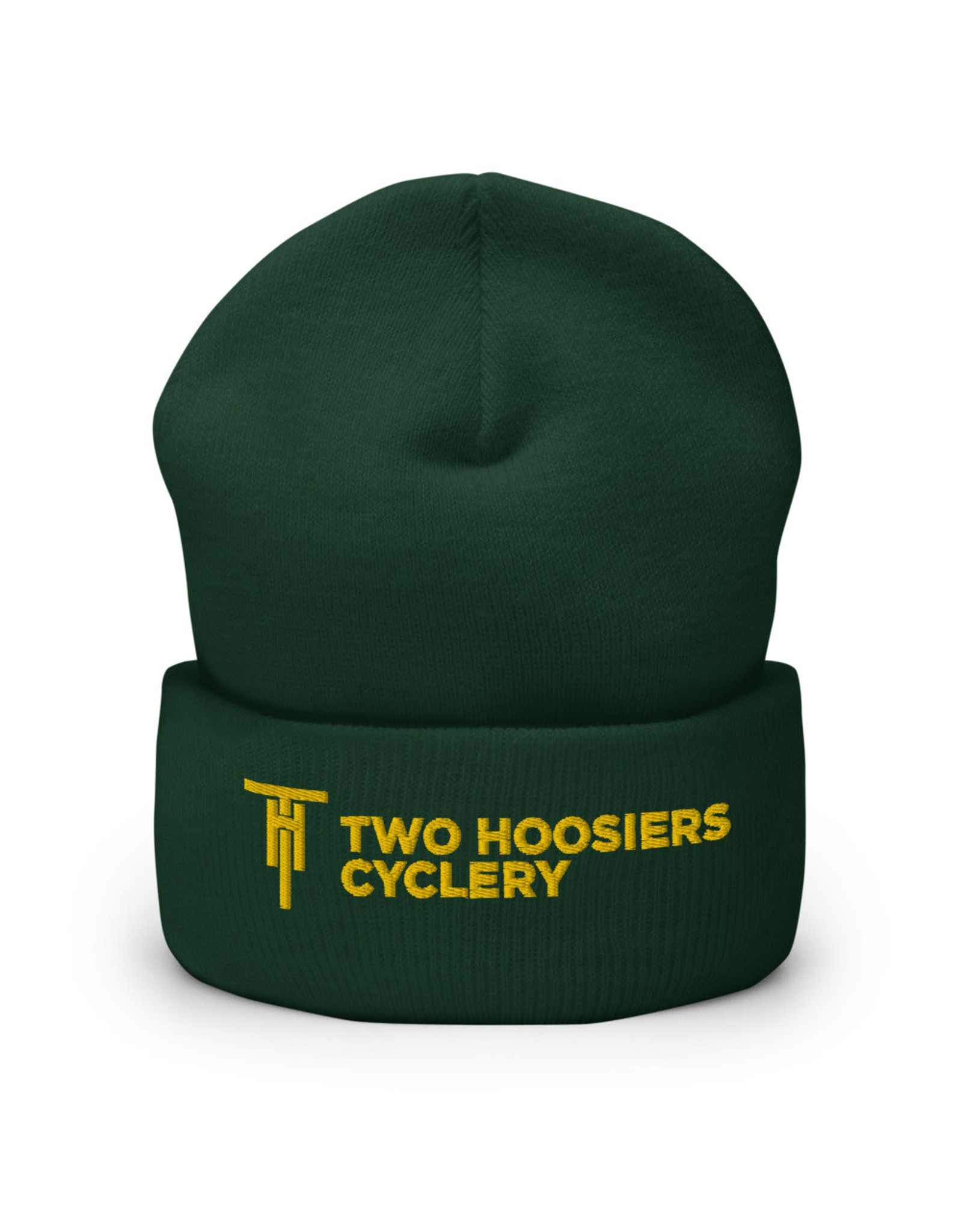 Two Hoosiers Cyclery 2021 Two Hoosiers Cyclery Cuffed Beanie Spruce Green