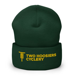 Two Hoosiers Cyclery 2021 Two Hoosiers Cyclery Cuffed Beanie Spruce Green