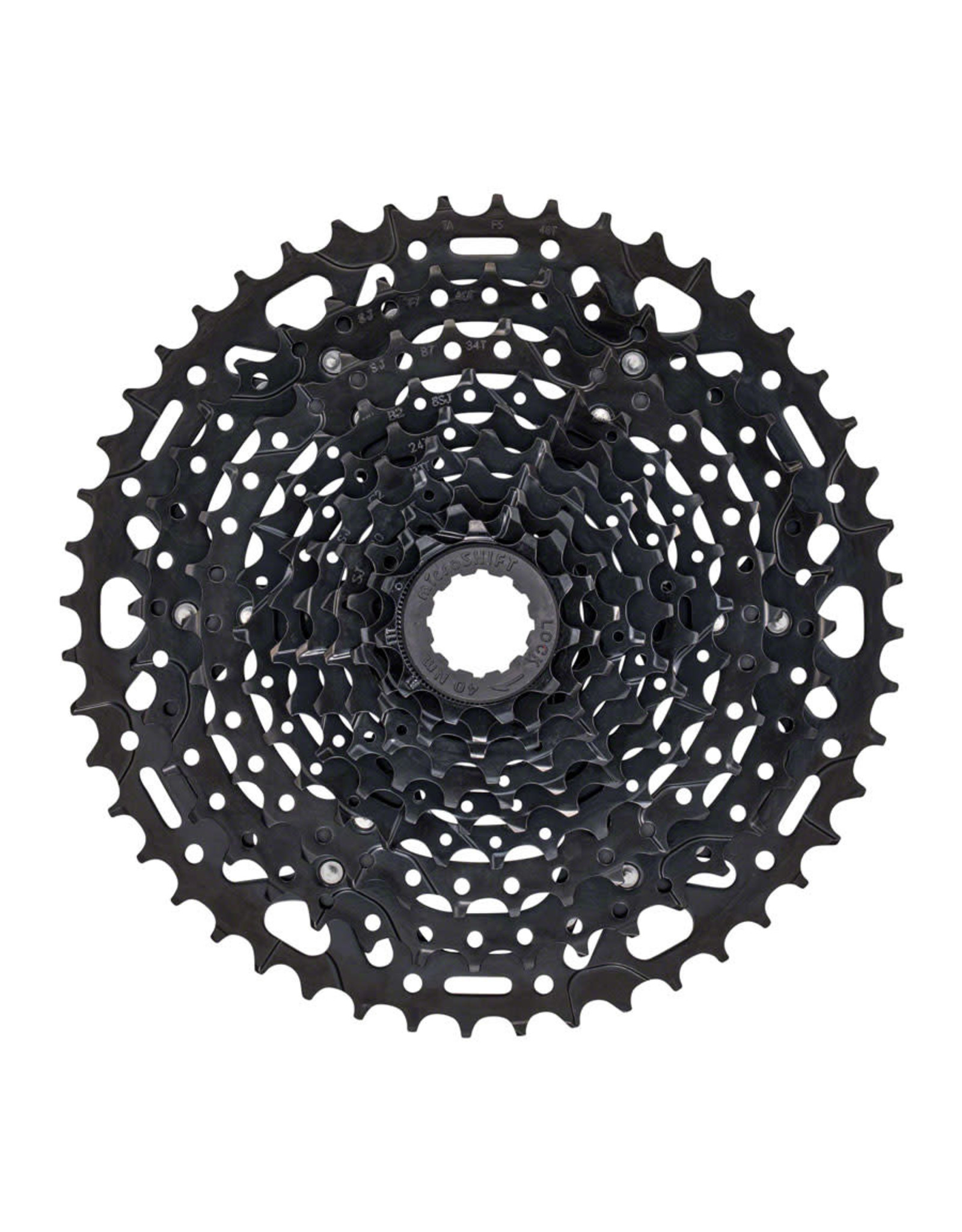 microSHIFT microSHIFT ADVENT X Cassette - 10 Speed, 11-48T, ED Black, Hardened Steel Cogs