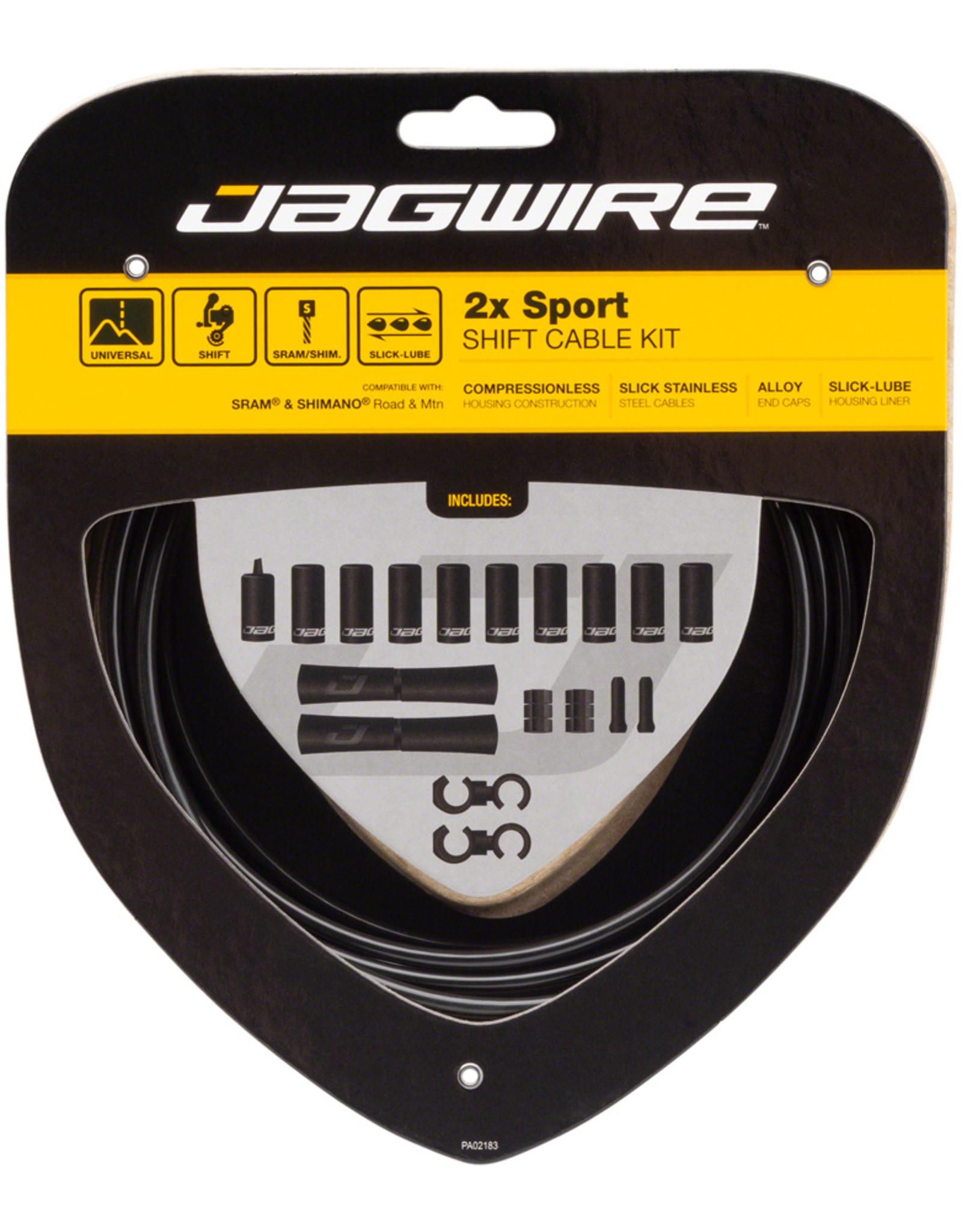 Jagwire Jagwire 2x Sport Shift Cable Kit SRAM/Shimano, Black