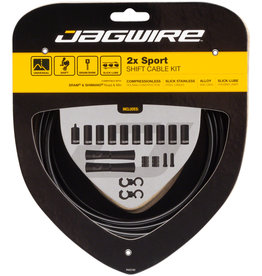 Jagwire Jagwire 2x Sport Shift Cable Kit SRAM/Shimano, Black