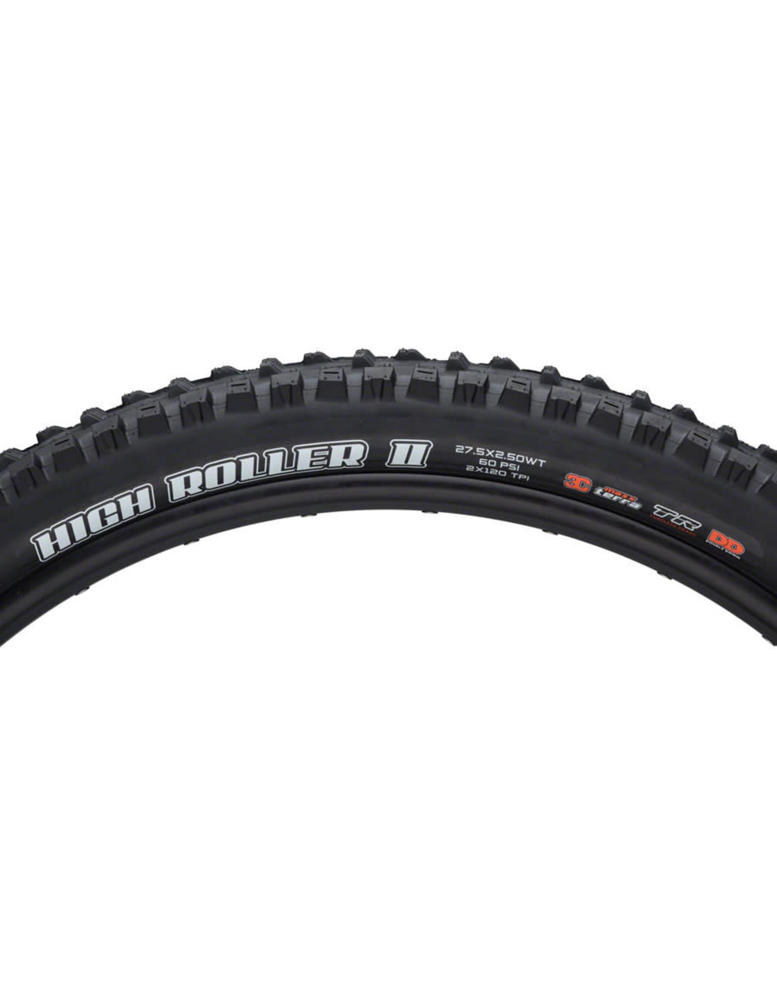 Maxxis Maxxis High Roller II Tire - 27.5 x 2.6, Tubeless, Folding, Black, Dual, EXO, Wide Trail