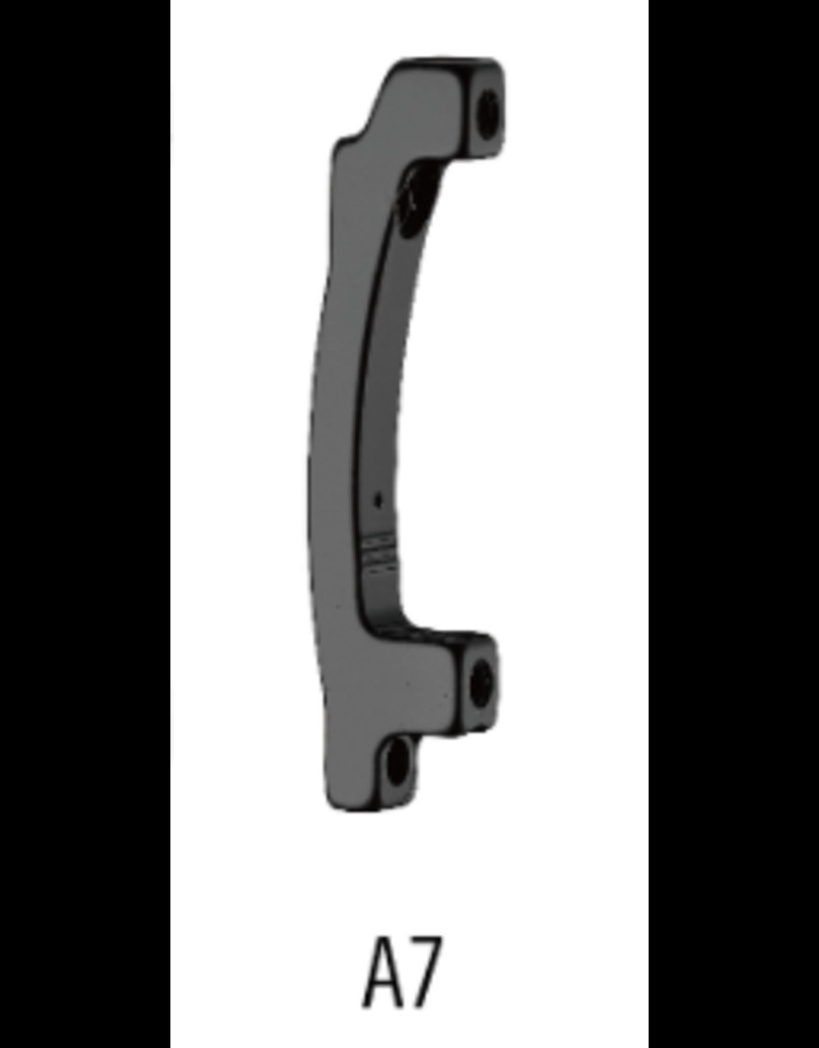 Tektro Tektro Disc Brake Adaptor - Front Post Mount 160mm, Compatible with 203mm Rotor