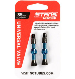 Stan's No Tubes Stan's NoTubes 35mm Tubeless Valves: Pair, Blue