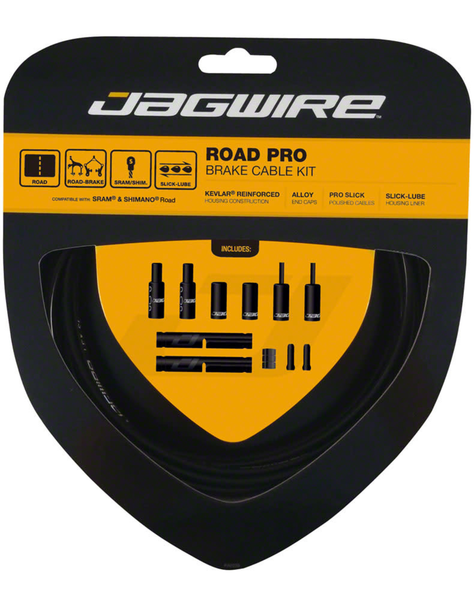 Jagwire Jagwire Pro Brake Cable Kit Road SRAM/Shimano, Black