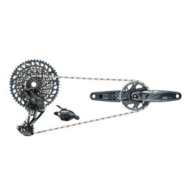 SRAM SRAM GX Eagle Groupset - Lunar - 170mm Boost Crankset, 32t, DUB, Trigger Shifter, Rear Derailleur, 12-Speed 10-52t Cassette and 12-Speed Chain