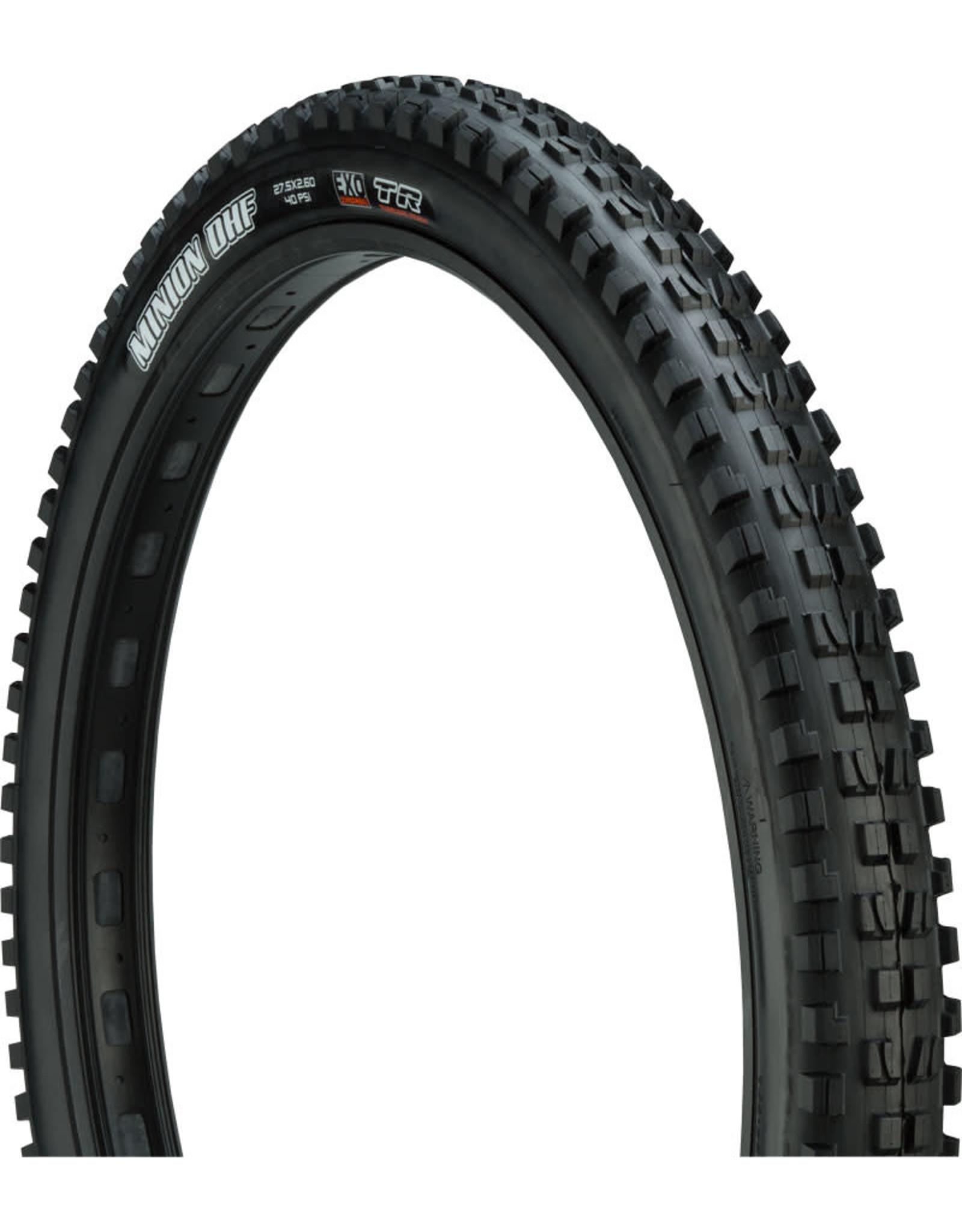 Maxxis Maxxis Minion DHF Tire - 27.5 x 2.6, Tubeless, Folding, Black, Dual, EXO