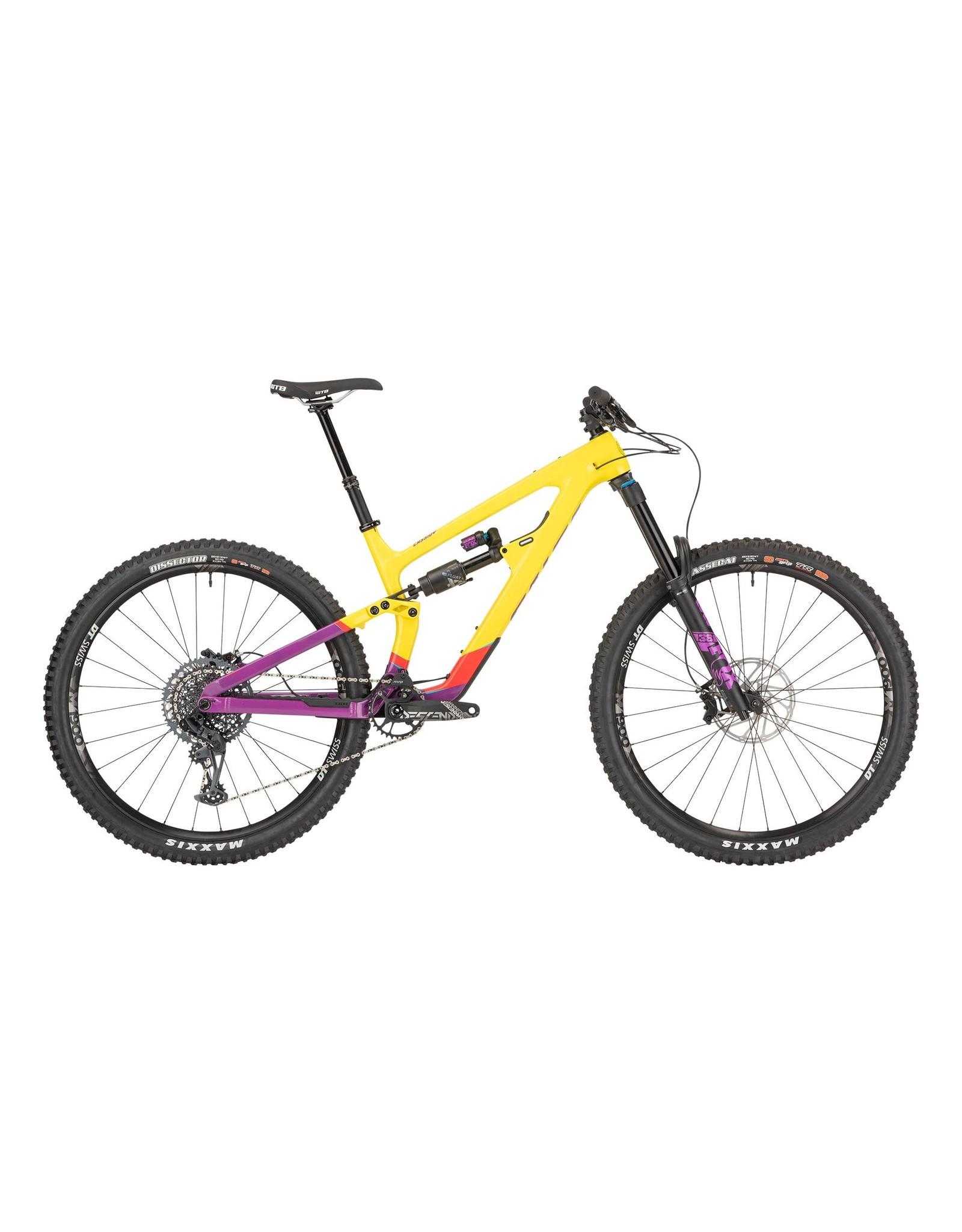 "Salsa 2021 Salsa Cassidy Carbon GX Eagle Bike - 29"", Carbon, Yellow/Purple"