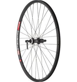 "Quality Wheels Quality Wheels Deore M610/DT 533d Rear Wheel - 26"", QR x 135mm, Center-Lock, HG 10, Black"