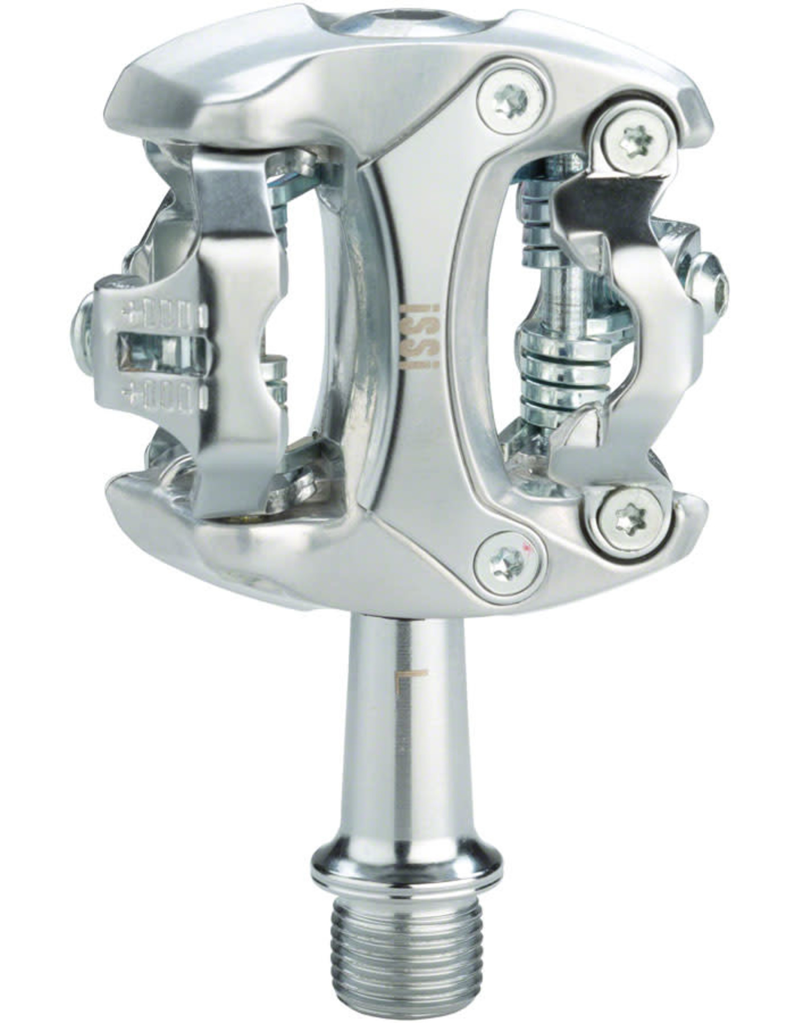 "iSSi iSSi Flash II Pedals - Dual Sided Clipless, Aluminum, 9/16"", Silver"