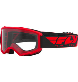 FLY RACING FLY RACING FOCUS GOGGLE RED W/CLEAR LENS
