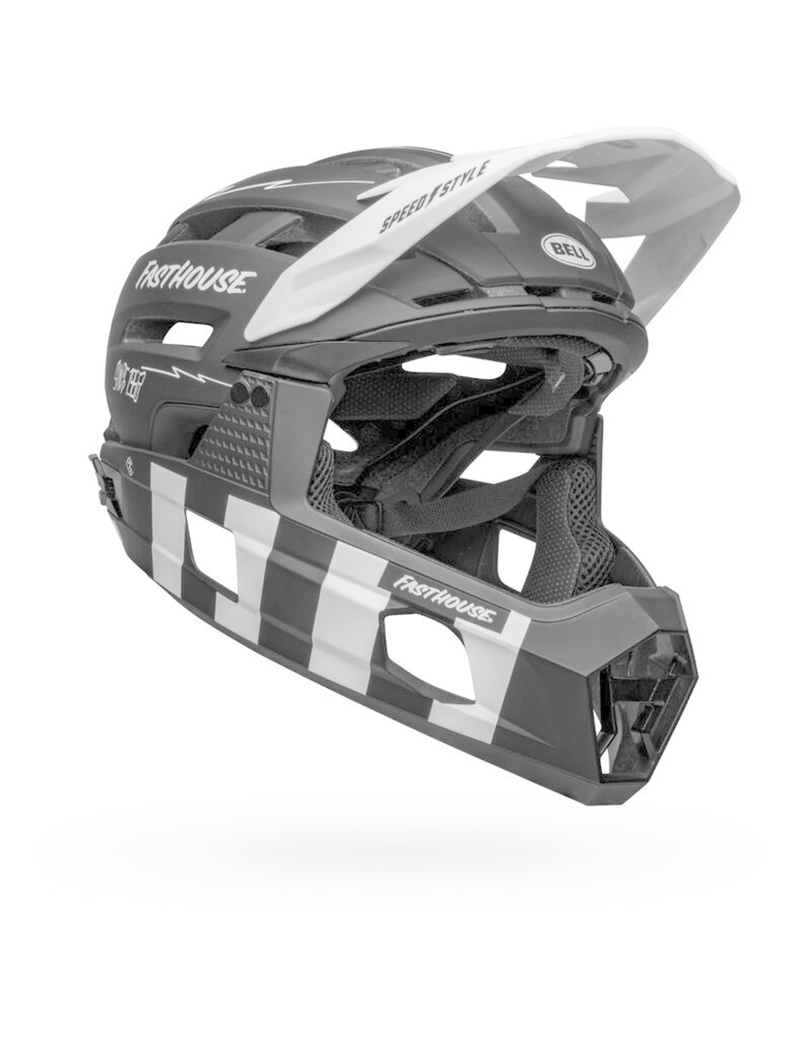 Bell Bell Super Air R Spherical, Fasthouse Matte Blk/White