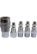 """Prestacycle PrestaCycle 1/4"""" Industrial/Mechanical Alloy Quick Coupler Kit With 4 Plugs"""