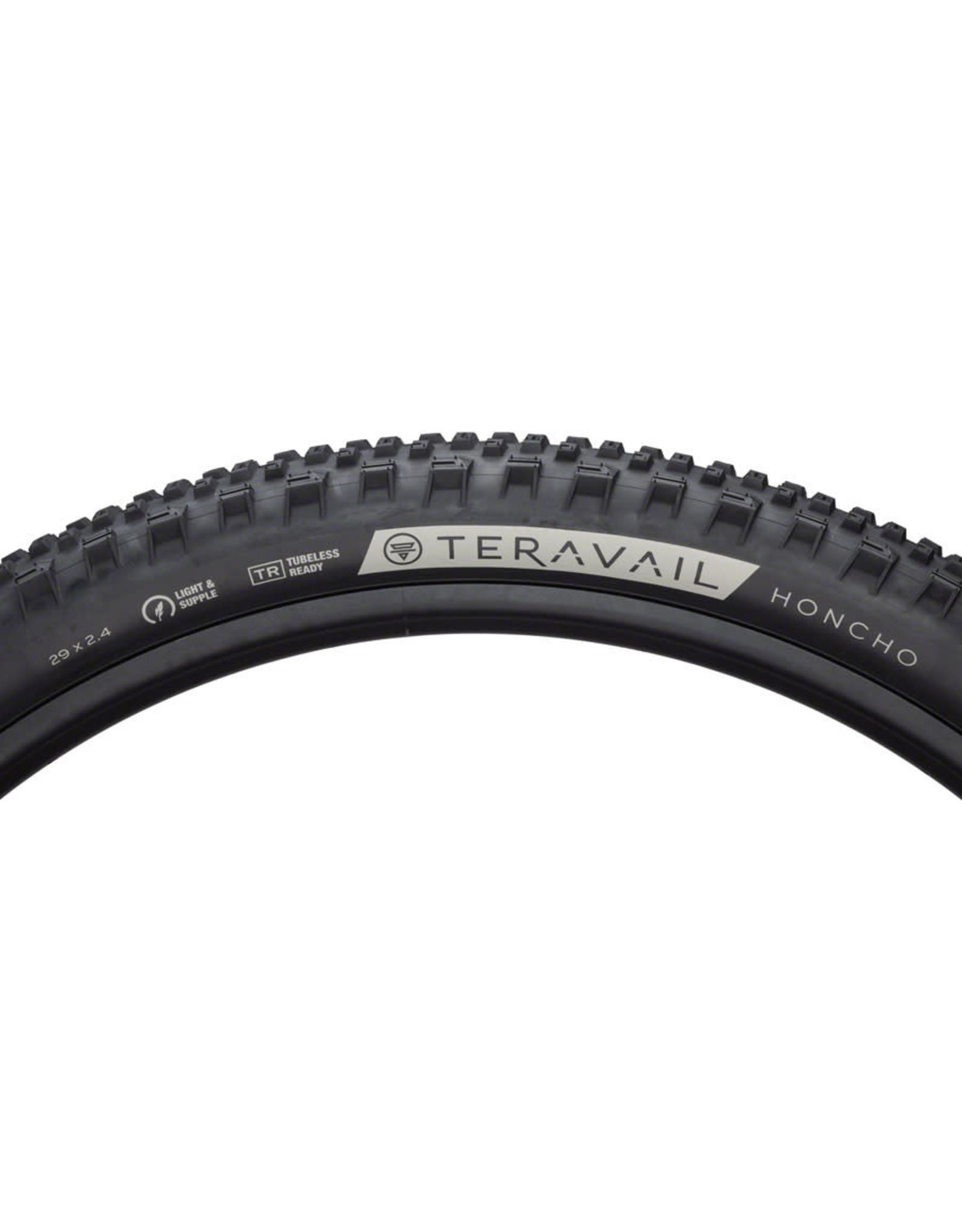 Teravail Teravail Honcho Tire - 29 x 2.4, Tubeless, Folding, Black, Durable