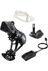 SRAM SRAM GX Eagle AXS Upgrade Kit - Rear Derailleur, Battery, Eagle AXS Controller w/ Clamp, Charger/Cord, Chain Gap Tool, Black, Lunar