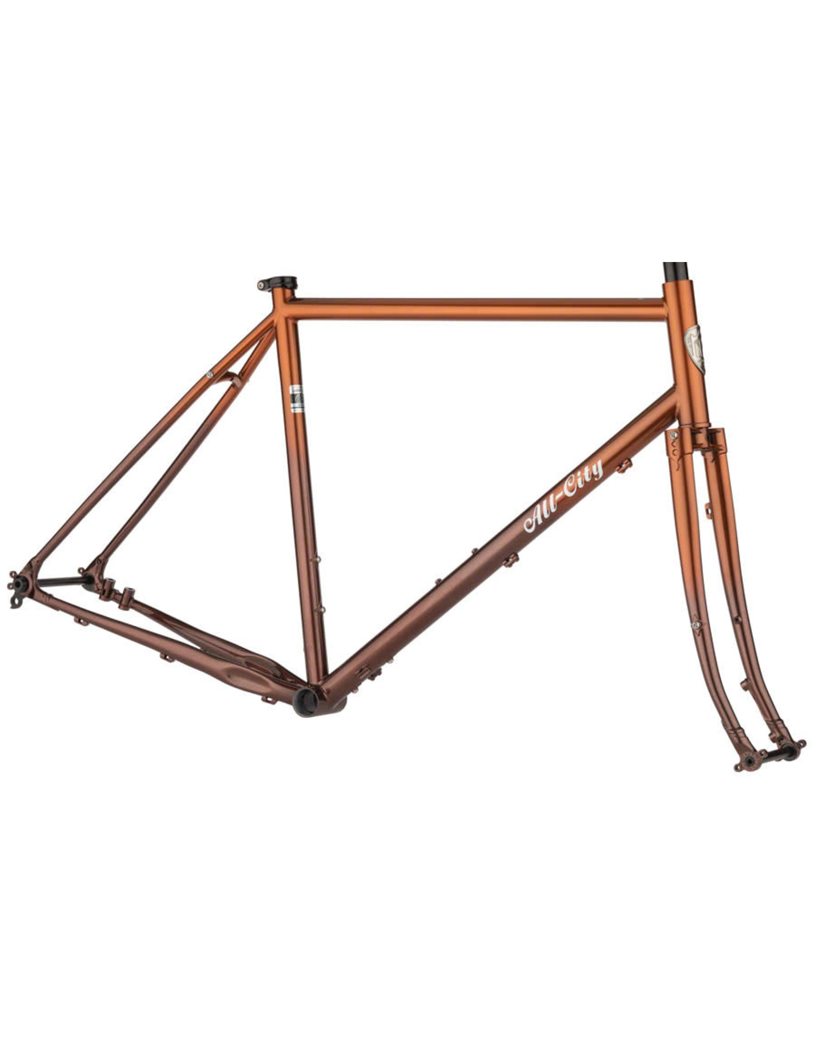 All-City All-City Gorilla Monsoon Frameset - 650b, Steel, Root Beer Keg