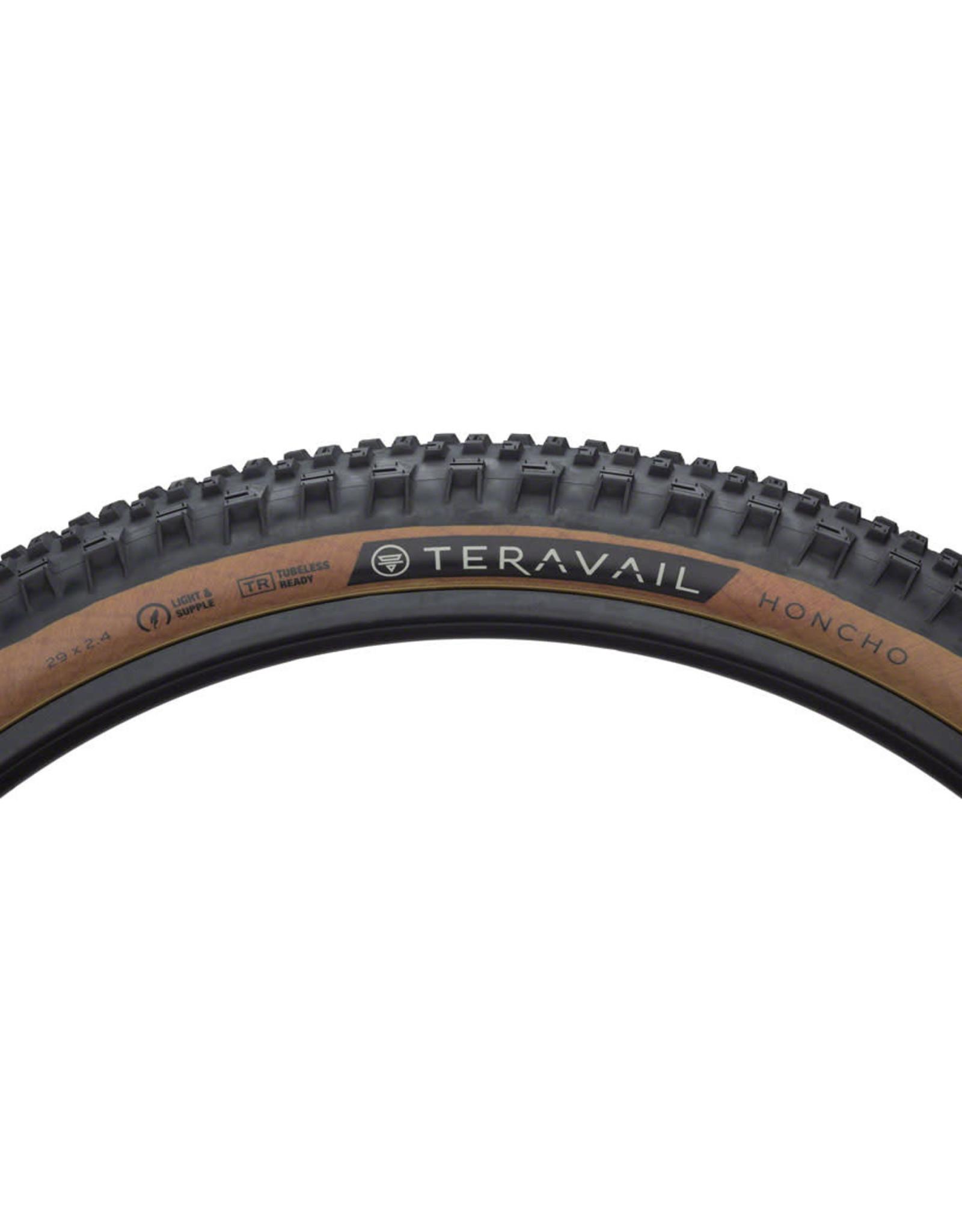 Teravail Teravail Honcho Tire - 29 x 2.4, Tubeless, Folding, Tan, Light and Supple