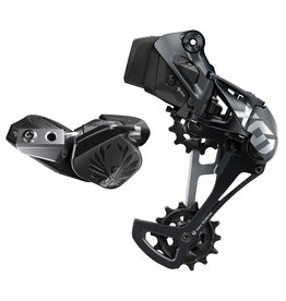 SRAM SRAM X01 Eagle AXS Upgrade Kit - Rear Derailleur for 10-52t, Battery, Eagle AXS Controller w/ Clamp, Charger/Cord, Lunar