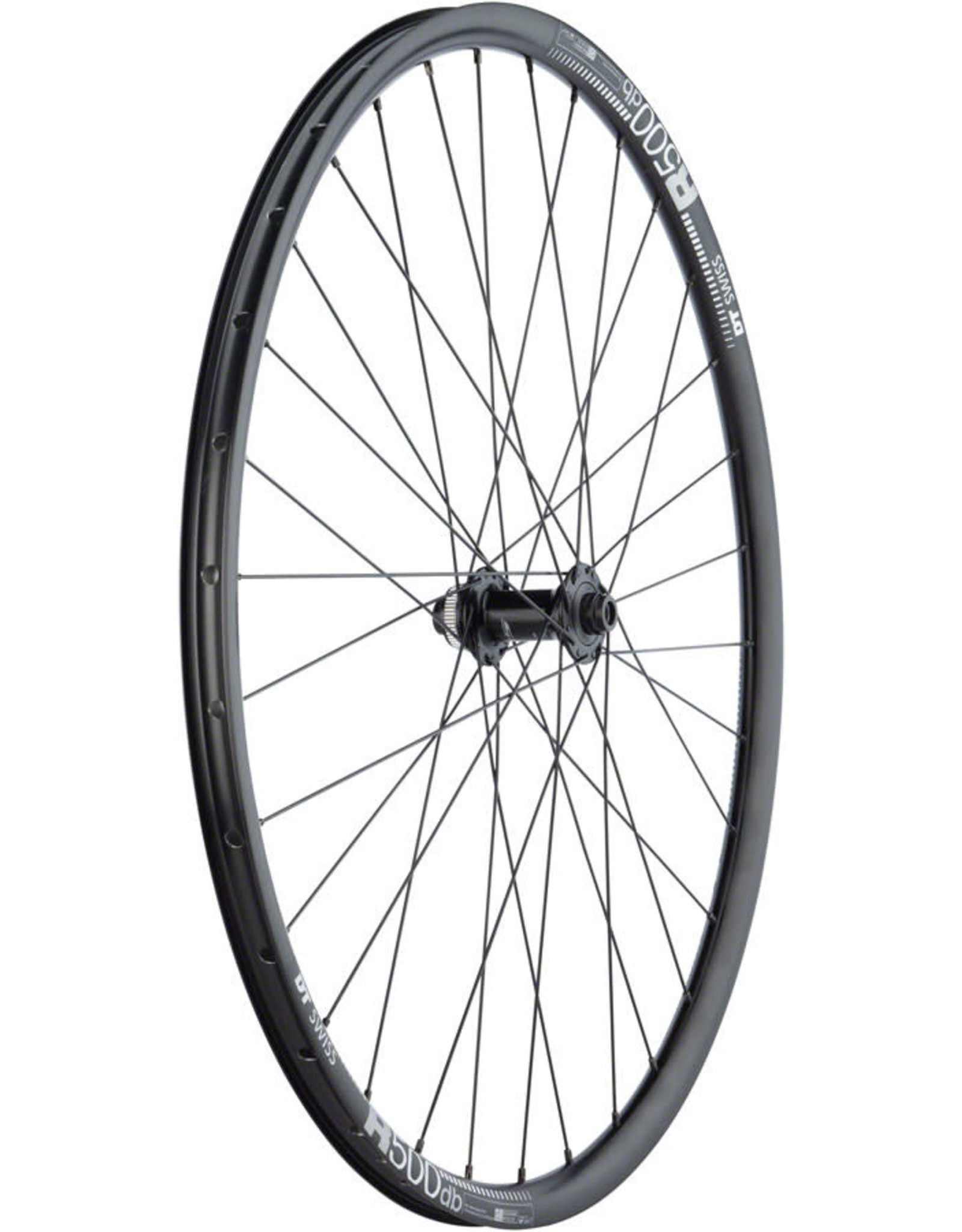 Quality Wheels RS505/DT R500 Disc - 700, 12 x 100mm, Center-Lock, Black, Front Wheel