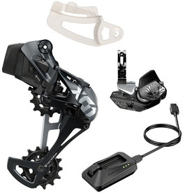 SRAM SRAM X01 Eagle AXS Upgrade Kit - Rear Derailleur for 52t Max, Battery, Eagle AXS Rocker Paddle Controller with Clamp, Charger/Cord, Lunar