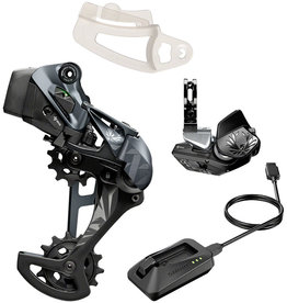 SRAM SRAM XX1 Eagle AXS Upgrade Kit - Rear Derailleur for 52t Max, Battery, Eagle AXS Rocker Paddle Controller with Clamp, Charger/Cord, Black