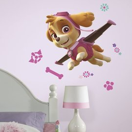 RoomMates Paw Patrol: Skye Peel and Stick Giant Wall Decal Set of 6