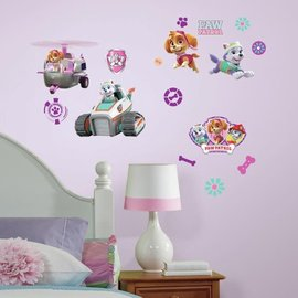 RoomMates Paw Patrol: Girl Pups Peel and Stick Wall Decal set of 30