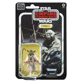 "Hasbro Star Wars: Yoda ""The Empire Strikes Back"" 40th Anniversary Black Series 6"" Figure"