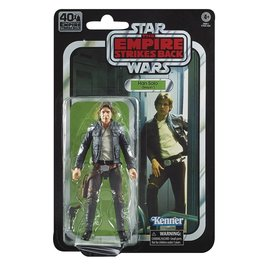 "Hasbro Star Wars Black Series: ""The Empire Strikes Back"" 40th Anniversary Han Solo 6"" Figure"
