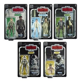 "Hasbro Star Wars Black Series:  ""The Empire Strikes Back"" 40th Anniversary Wave 1 6"" Figure Set of 5"