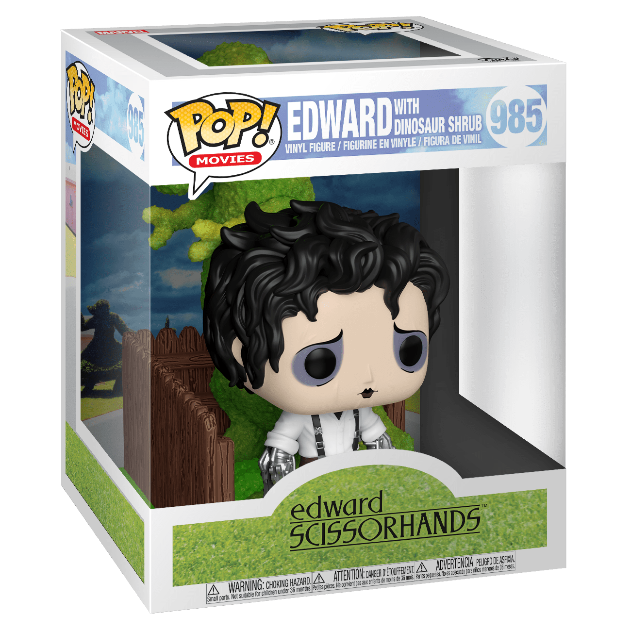 Funko Edward Scissorhands: Edward & Dino Hedge Deluxe Funko POP! #985