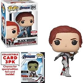 Funko Avengers- Endgame: Black Widow with Collectors Cards Entertainment Earth Exclusive Funko POP! #454