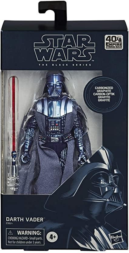 "Hasbro Star Wars Black Series: Darth Vader Carbonized Amazon Exclusive 6"" Figure"