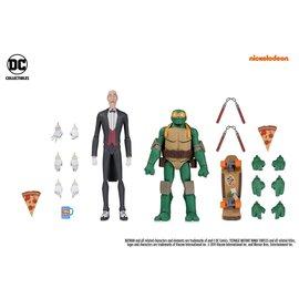 DC Collectibles Batman vs Teenage Mutant Ninja Turtles: Alfred & Michelangelo Gamestop Exclusive Action Figure 2-Pack