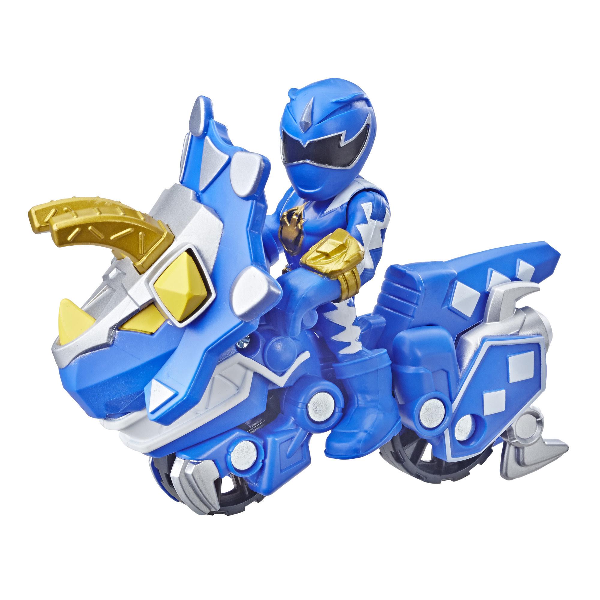 Hasbro Playskool Heroes Power Rangers: Blue Ranger and Raptor Cycle