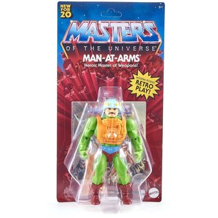 Mattel Masters of the Universe Origins: Man-at-Arms Figure (Damaged Card)