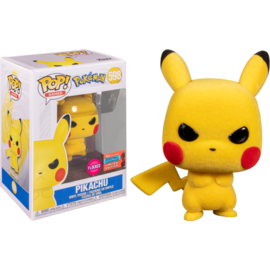 Funko Pokemon: Angry Pikachu (flocked) 2020 Fall Convention Exclusive Funko POP! #598