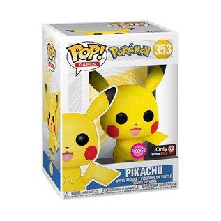 Funko Pokemon: Pikachu (Flocked) Gamestop Exclusive Funko POP! #353