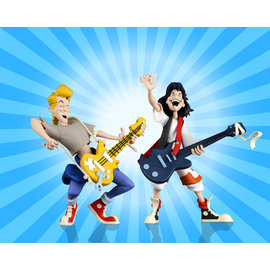 "NECA Toony Classics: Bill and Ted (Bill and Ted's Excellent Adventure) 6"" Figure 2 pack"