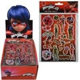 United Pacific Designs Miraculous Ladybug Puffy Glitter Stickers