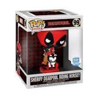 "Funko Marvel: Sheriff Deadpool Riding Horsey Funko Shop Exclusive 6"" Funko POP! #99"