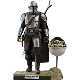 Hot Toys The Mandalorian: The Mandalorian and The Child (Deluxe) 1:6 Scale Collectible Set