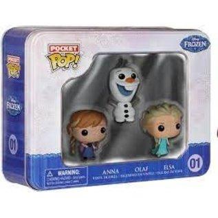 Funko Pocket Pop Tin 3 Pack Frozen- Anna, Elsa, Olaf