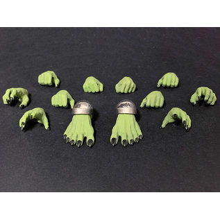 Mythic Legions Arethyr: Hands and Feet (Green Orc) Figure (Preorder)