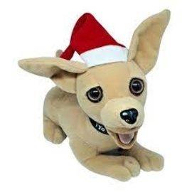 Taco Bell Dog Plush: Christmas Hat