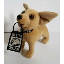 Taco Bell Dog Plush: With Wanted Chalupa Sign