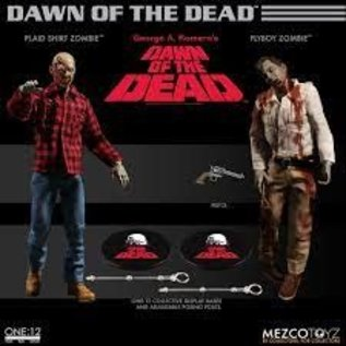 Mezco Mezco Dawn Of The Dead:Plaid Shirt Zombie and Flyboy Zombie One:12