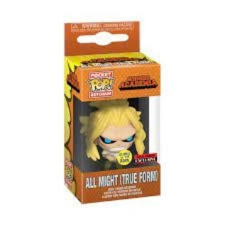 Funko My Hero Academia: All Might (True Form) GITD AAA Anime Exclusive Pocket POP! Keychain
