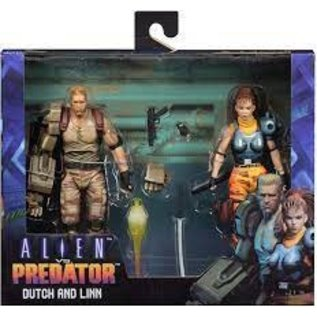 "NECA Alien vs Predator - 7"" Scale Fig - Dutch & Lin Arcade 2pk"