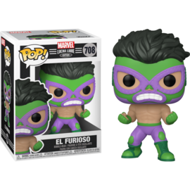 Funko Marvel Lucha Libre Edition: El Furioso Funko POP! #708